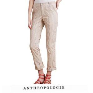 Anthropologie Hei Hei Beige Pinstripe Pants